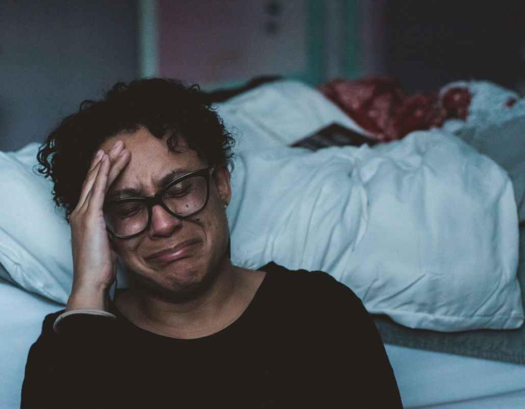Typische Symptome für Winterblues/-depressionen: Gedrückte Stimmung